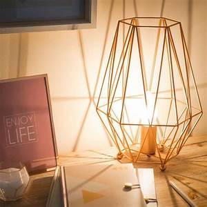 Lampe En Cuivre : lampe en m tal cuivr origami copper maisons du monde ~ Carolinahurricanesstore.com Idées de Décoration
