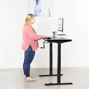 Vivo Black Manual Height Adjustable Stand Up Desk Frame