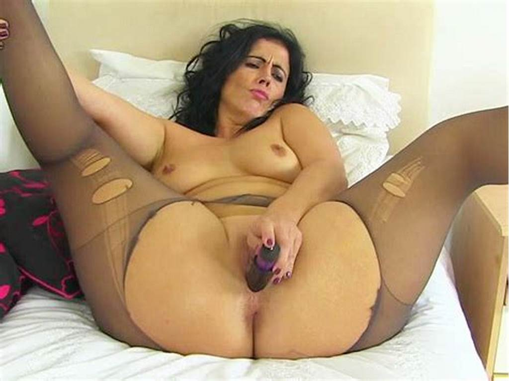 #Spanish #Milf #Montse #Swinger #Fucks #Nyloned #Cunt #With