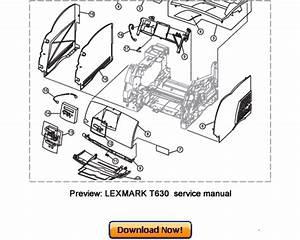 Lexmark T630 T630n T632 T632n T634 T634n Service Repair