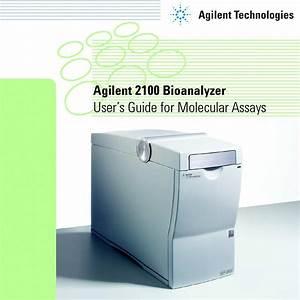 Agilent 2100 Bioanalyzer Operator U0026 39 S Manual