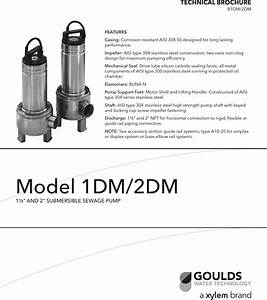 538014 1 Goulds Submersible Sewage Pump Brochure User Manual