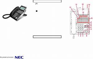Nec Dt710 Telephone Quick User Manual Pdf View  Download