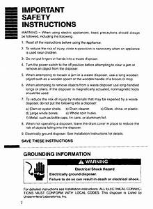 Page 2 Of Whirlpool Garbage Disposal Gc2000 User Guide