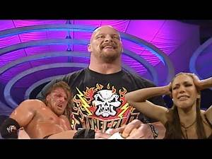 Stone Cold Gives HHH A Beer Shower 2/8/2001