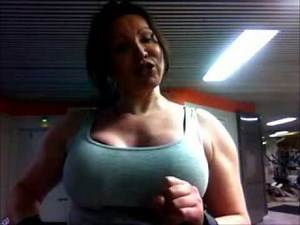 Diana Ball at the gym again!