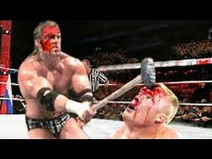 Triple H Hammered Brock Lesnar Head in Bloodiest match | Killing Full Match 2016